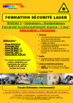 Listing program Laser Safety Training - Level 3